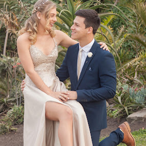 Nathan's matric dance by Heidi Fourie - People Couples ( dress, hair, smiles, girl, boy )