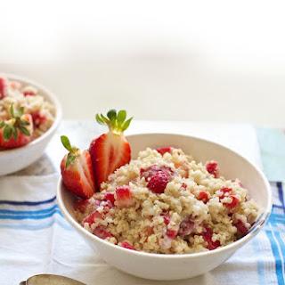 Strawberries 'n Cream Quinoa Porridge.