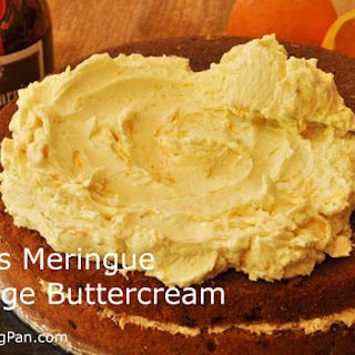 Swiss Meringue Orange Buttercream