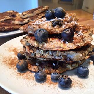 Banana & Blueberry Pancakes (Gluten Free).