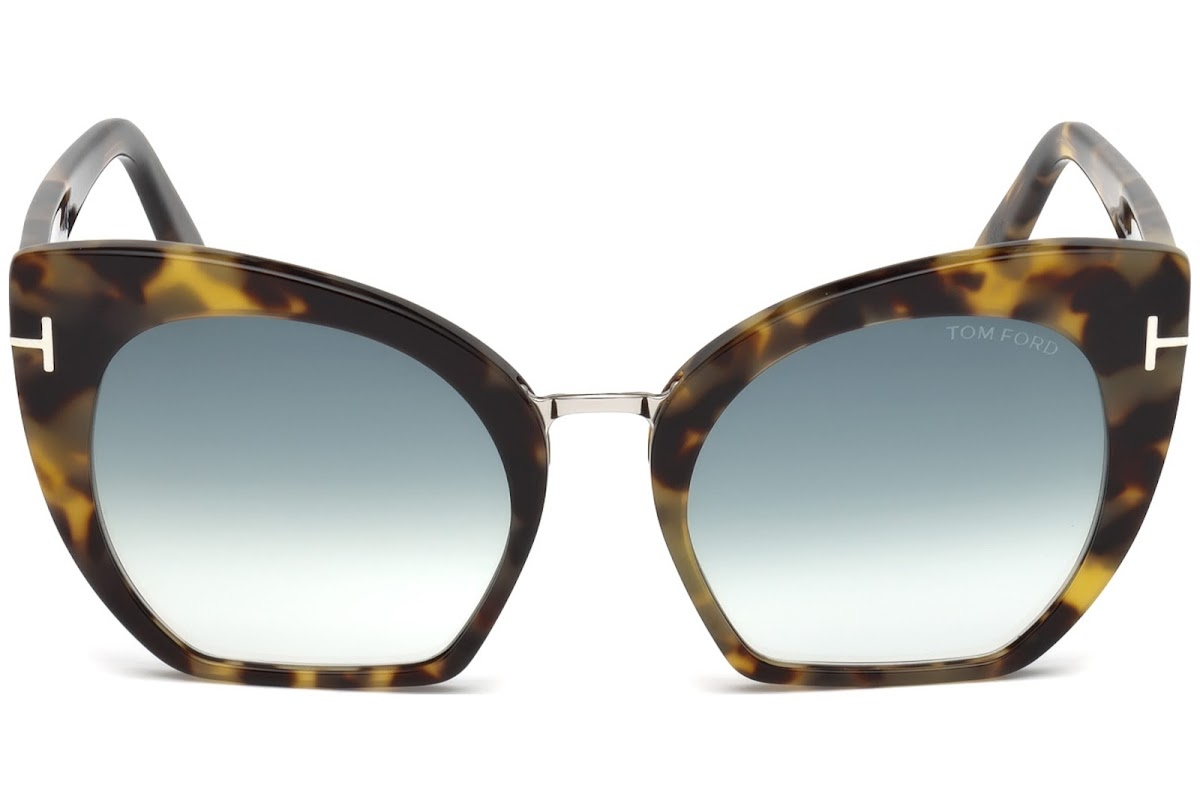 13333d60e50 Sunglasses Tom Ford Samantha-02 FT0553 C55 56W (havana other   gradient  blue)