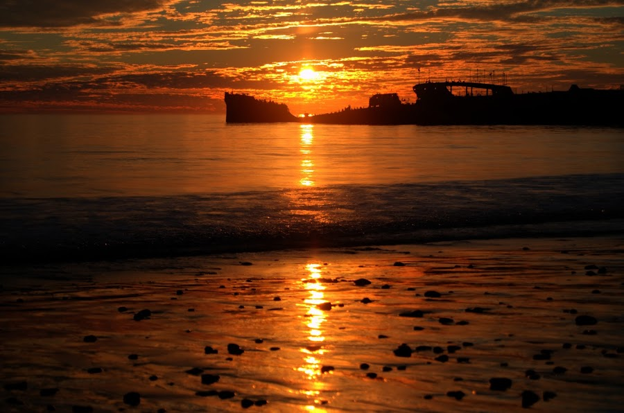 Seacliff State Beach Sunset by George Krieger - Landscapes Beaches