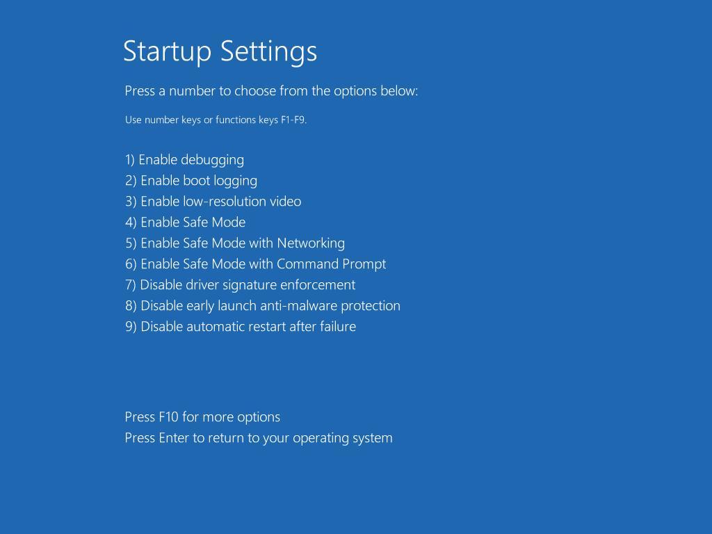 Windows 10 ustawienia uruchamiania