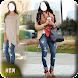 ジーンズで美しい女の子:ジーンズアプリ写真エディタ