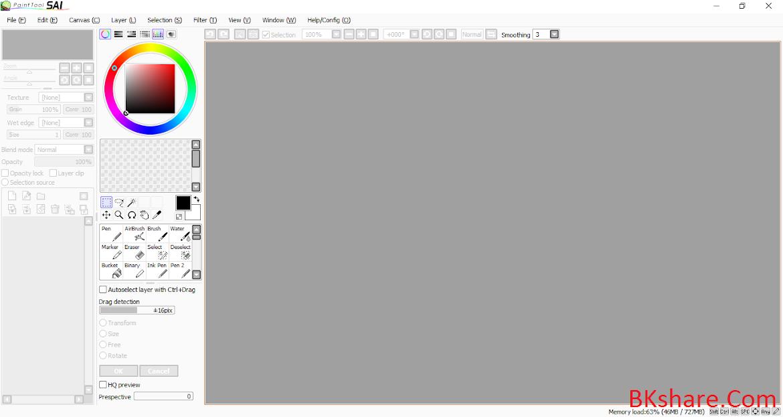 Download Paint tool SAI full crack - Phần mềm vẽ chuyên dụng cho Windows
