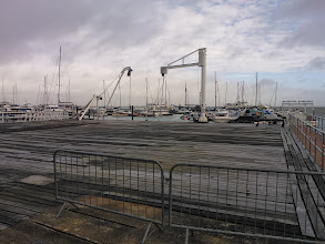 Photo: The apron cleared of boats ready for work to start, November 2013