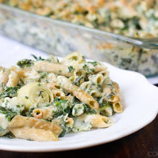 Spinach and Artichoke Pasta Bake.