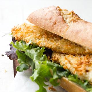Baked Tilapia Sandwich.
