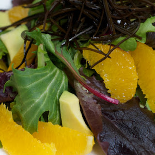 Arame Citrus Salad with Pomegranate Dressing.