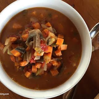 Tomato, Yam Soup.