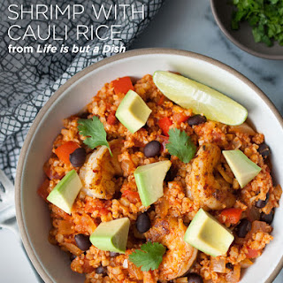 One-Pot Mexican Shrimp with Cauliflower Rice