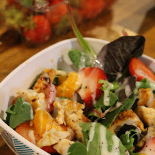 Strawberry Almond Chicken Salad #FantasticalFoodFight.
