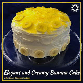 Elegant and Creamy Banana Cake with Cream Cheese Frosting Recipe