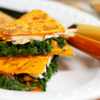 Turkey, Kale And Cheese Quesadillas