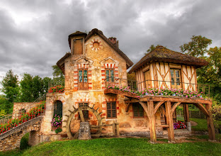 Photo: Another new one from France…posting first to Google+… a country home with flowers. Who wants to spend a long weekend here?