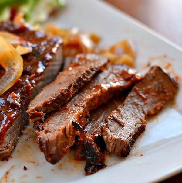 A Super Easy Family Friendly Oven Baked Barbecued Beef Brisket Made With Ingredients Commonly Found In Your Pantry. Is Your Weather Way Too Cold To Grill Outside.