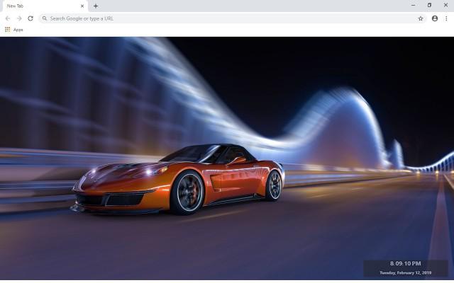 Limited Edition Bugatti Veyron New Tab Theme