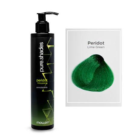 Pure shades peridot lime green