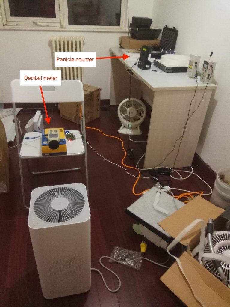 xiaomi mi air pollution test Room