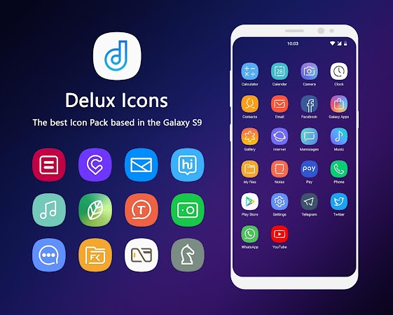 Delux – S9 Icon Pack v2.0.0 [Patched]