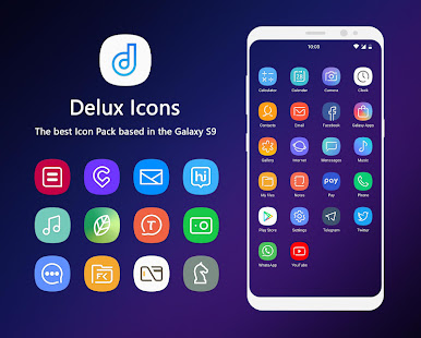 delux s9 icon pack app report on mobile action app. Black Bedroom Furniture Sets. Home Design Ideas