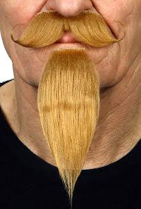 Mustasch med skägg Musketör, mörkblond