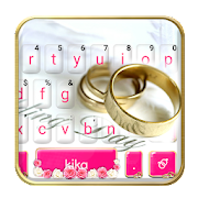 Sweet Wedding Dream Keyboard Theme APK for Bluestacks
