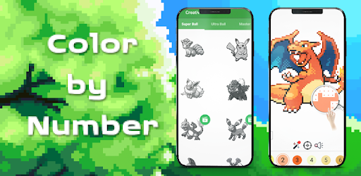 Pokess Color by Number - Sandbox Pixel for PC