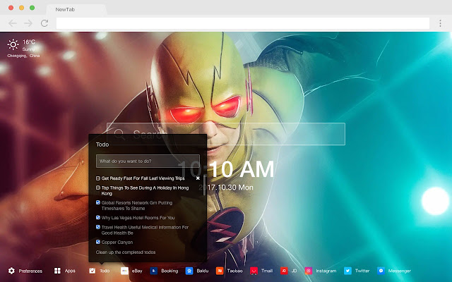 Flash Popular DC HD Wallpapers New Tabs Theme