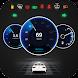 GPSスピードメーターOBD2車のダッシュボード:制限速度