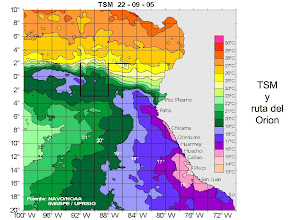 Photo: these are sea-surface temperature charts - self explanatory