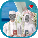 Book Wedding Hijab Couple Photo Frame icon