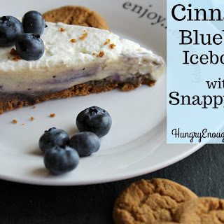 Cinnamon Blueberry Icebox Pie with A Snappy Crust.