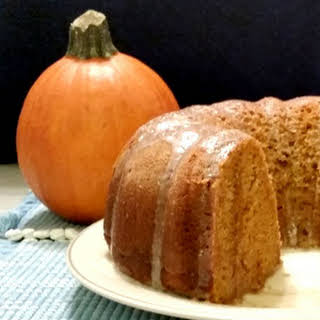 Pumpkin Spice Bundt Cake With Vanilla Butter Sauce.