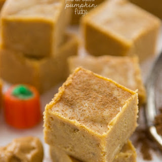 Peanut Butter Pumpkin Fudge.