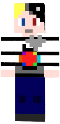 an updated version of my glitchtale OC