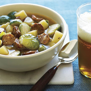 Brussels Sprouts and Sausage Soup.