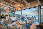 The main area of Lekkerwater Beach Lodge features a wrap-around terrace that takes full advantage of its spectacular setting on a beach in the De Hoop Nature Reserve.