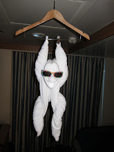 Photo: Byron made towel animals every day. This one was a shocker upon entering the room.