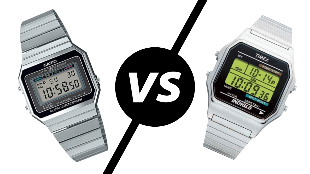 Photo of watch brands Casio vs Timex and their digital watches