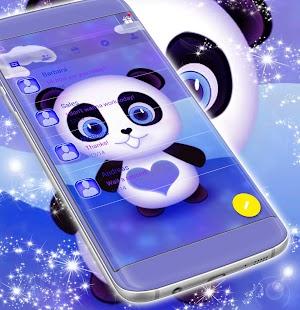 Cute Panda SMS Theme - náhled