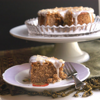 Sweet Potato Almond Cake with an Almond Glaze Recipe