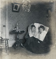 Photo: Jayne B. Kerr and Clara Schwanecke, January 1902.  Marshall, Illinois.