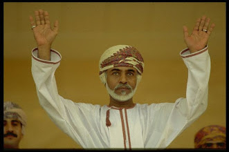 Photo: Original caption: Sultan Qaboos Bin Said during a show given to celebrate the national holiday. November 21, 1997 SALALAH, DHOFAR, Oman