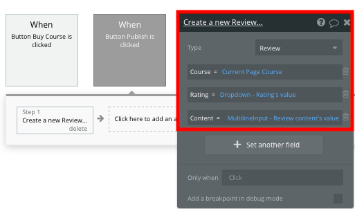 Creating a Udemy course review using Bubble's no code editor