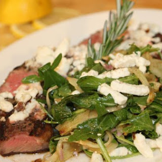 New York Grilled Strip Steak Salad with Goat Cheese, Grilled Fennel and Arugula