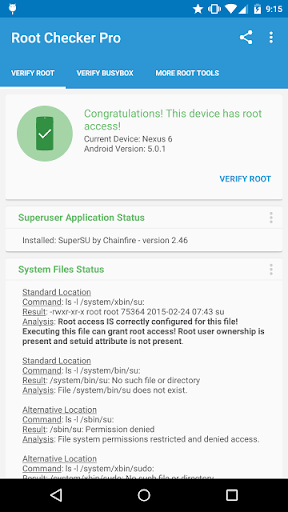 Root Checker Pro  screenshots 1