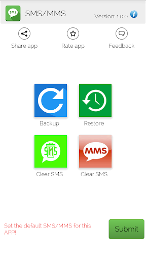 Backup and Restore SMS MMS