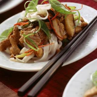 Pork and Mushroom Noodles.