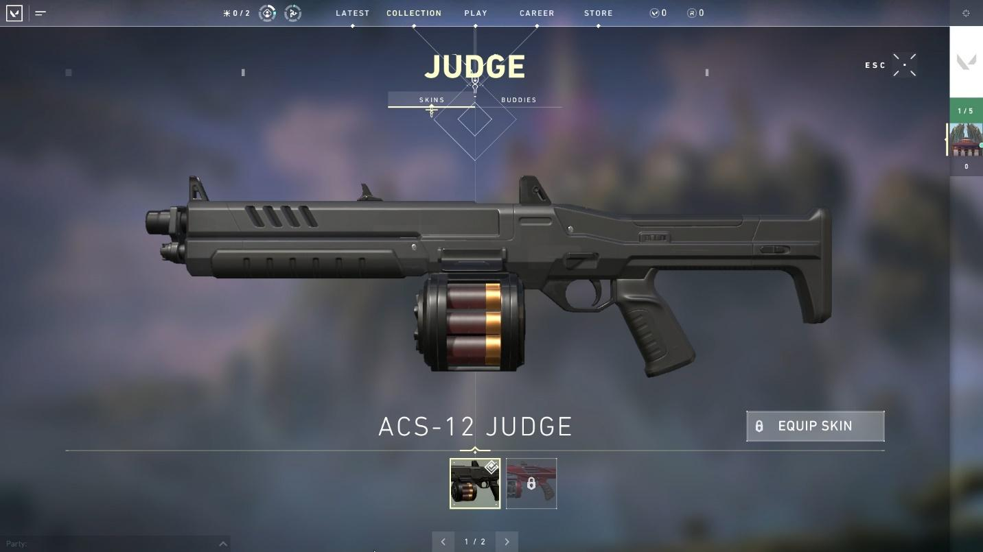 The Judge shotgun top weapons in valorant